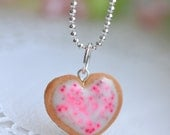 Sugar cookie charm necklace Food jewelry-Sugar cookie collection
