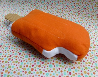Ice Cream Pillow: Orange Creamsicle Plush