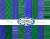 Emerald & Sapphire Paper Pack-16 **** Instsnt Download****