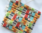 Reusable eco friendly washable Sandwich - multicolored buildings