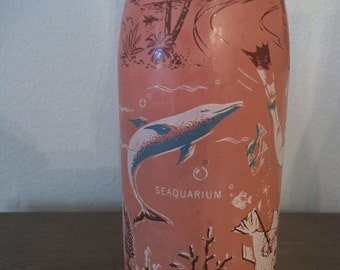 Vintage 1965 ABCB Convention MIAMI Florida Duraglas ACL Bottle Pink Coral