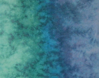 Hand Dyed Fabric - Emerald City -  Gradient