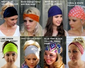 Wide Yoga Headband - Choose ANY TWO - Workout Band Hair Wrap Hippie Bohemian Stretchy Running Headband Hipster Headband - 40 Color Options