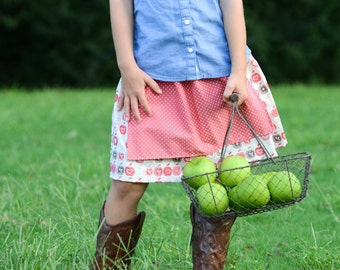 All Skirts, Buy 2, Get 1 FREE!  Three Munchkins-Apples and Polka Dot Apron Twirl Skirt