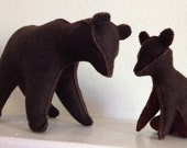 RESERVED Bear Family, Mama Bear and the Baby, Waldorf Toys