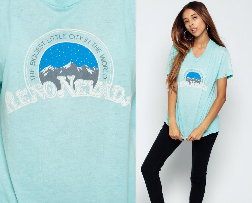 Retro Tee Burnout Tshirt Reno Shirt 80s Nevada T By Shopexile