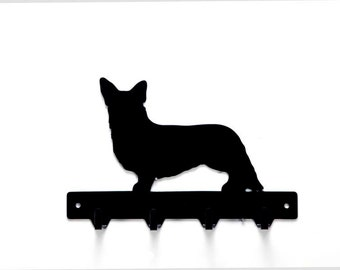 Corgi Dog Metal Art Leash or Key Rack - Free USA Shipping