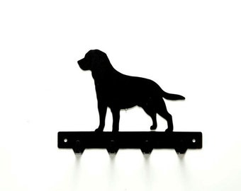 Labrador Retriever Metal Art Leash or Key Rack - Free USA Shipping