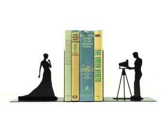 Photography Metal Art Bookends - Free USA Shipping