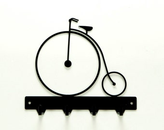 Antique Bicycle Metal Art  Key Rack - Free USA Shipping