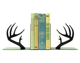 Deer Antler Metal Art Bookends - Free USA Shipping