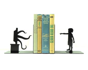 Tentacle Television Metal Art Bookends - Free USA Shipping