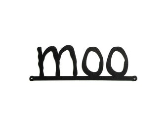 moo metal art sign - Free USA Shipping