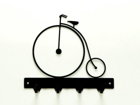 Antique Bicycle Metal Art  Key Rack - Free USA Shipping