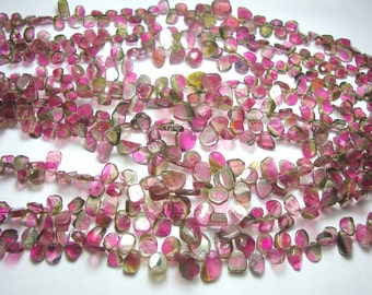 Five strands lot of Watermelon Tourmaline Slices Full Strands