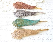 Sterling Silver Plated Feather Angel Wing Hair Pins - Angel Wing Bobby Pins - Bird - Flight - Woodland Hair - Wedding Hair - Bridal