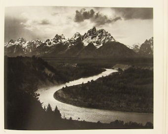 Ansel Adams Vintage Black and White Photography Prints, Unframed Vintage Book Prints, Home Decor,1972