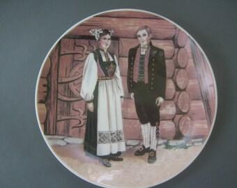Vintage Dansk Norway Costume Bunader Plate