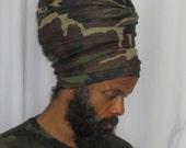 Men Camouflage EZ Wrap - Ready Wraps- Stretch Turban- Stretch Wraps-Men- Choose a Length