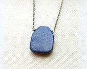 Lapis lazuli necklace on brass chain third eye jewelry throat chakra lapis lazuli necklace everyday lapis lazuli jewelry