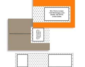 Envelope Wrap PDF in Swiss Dot in A7