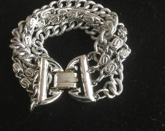 Vintage Lisner Chunky Multi Strand Bracelet