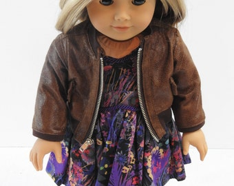 18 Inch Doll Clothes, AG doll Clothes, Trendy,  Handmade Bomber Jacket fits American Girl Doll
