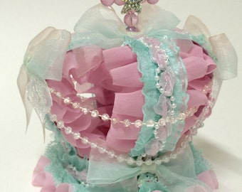 Pink and mint mini crown
