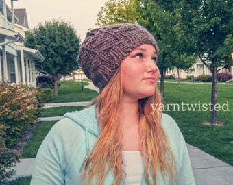 KNITTING PATTERN PDF, Knitted Slouchy Hat, Teen Beanie - Size Toddler, Child, Adult, Women, Teen, Winter Accessories Fashion Can Sell Items
