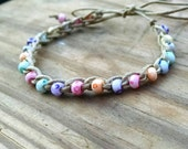 Anklet Candy Colors Crochet Cotton Ties On Adjustable Length Durable