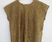 Metallic Gold Vintage Womens Shell