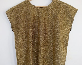 Metallic Gold Vintage Womens Shell