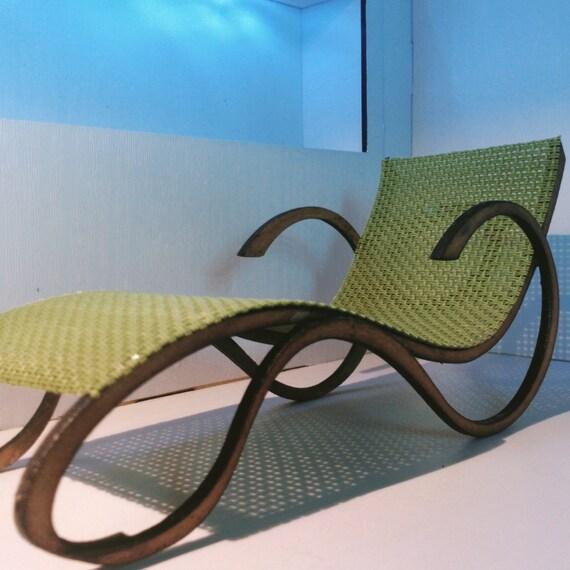 Art nouveau style geen chaise longue 1 12 miniature for for Art nouveau chaise