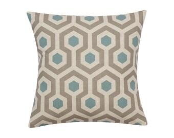 BLUE GREY Pillow Cover.Decorator Pillow Cover.Home Decor.Large Print.Cushions.Geometric.MAGNA Cushion.Pillow. Premier Prints