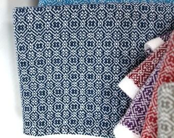 Handwoven M&W Twill Tea Towels Cotton medium blue