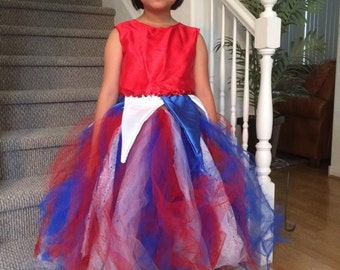 Fire Cracker Dress fits size 6-8