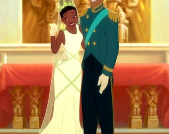 Tiana's Princess and the Frog Wedding Gown
