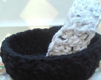 Nesting Bowls, Crochet bowls, Storage, Individual Bowl, Crochet Nesting Bowls