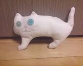 White Cat, Cat Stuffed,Stuffed Toy,Animal Doll,Odd eye cat,Cat Plushie