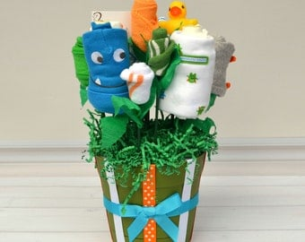 Monster Baby Gift, Boy Baby Gift, Flower Bouquet, Monster Baby Shower Decoration, Baby Shower Ideas, Unique Baby Gift, Mommy's Monster