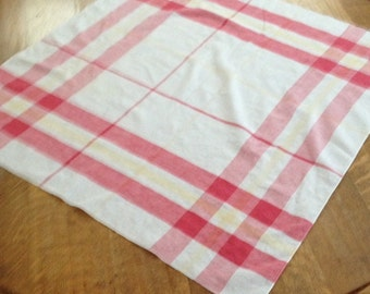Vintage Red And Yellow Plaid Tablecloth