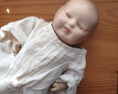 composition chippy doll scary spooky halloween gothic home decor vintage