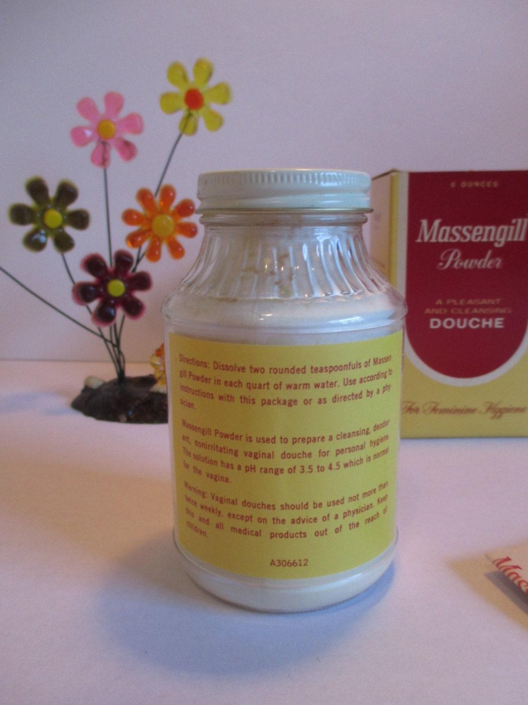 vintage massengill feminine hygiene douche powder 6 ounces. Black Bedroom Furniture Sets. Home Design Ideas