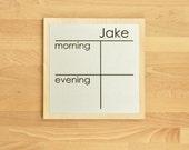 Morning/Evening Chore Chart Mini