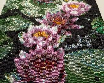 Lotus Peyote Stitch Tapestry