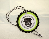 Halloween Tags, Halloween Treat Bag Tags, Frankenstein Halloween Tags, Trick or Treat Smell My Feet Tags, Juvenile Halloween Tags,