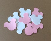 Minnie and Mickey Mouse Confetti Custom Colors Pastels