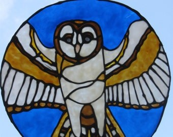 Night Owl Stained Glass Cling