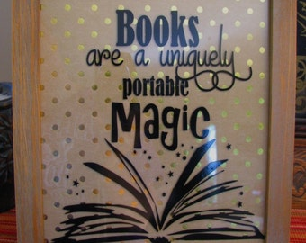 Magic in Reading Inspirational Vinyl Quote for Classroom Decor