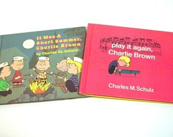 Peanuts Books By Charles Schultz, Play It Again Charlie Brown And It Was A Short Summer, Charlie Brown